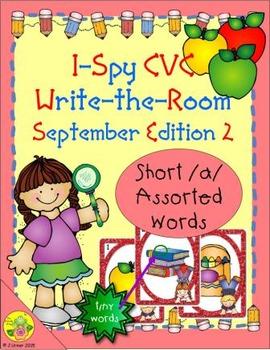 I-Spy CVC Tiny Words - Short /a/ Assorted Words (September Edition) Set 2