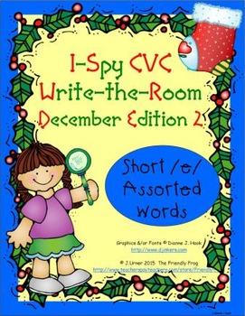 I-Spy CVC Tiny Words - Short /e/ Assorted Words (December Edition) Set 2