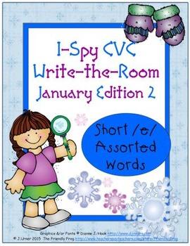 I-Spy CVC Tiny Words - Short /e/ Assorted Words (Jan. Edit