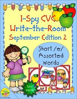 I-Spy CVC Tiny Words - Short /e/ Assorted Words (September Edition) Set 2