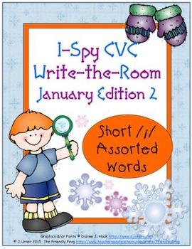 I-Spy CVC Tiny Words - Short /i/ Assorted Words (January Edition) Set 2