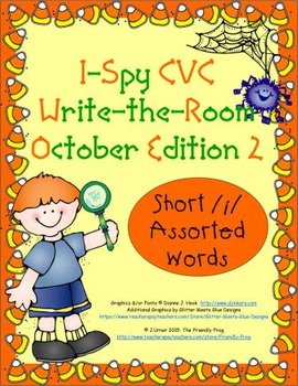 I-Spy CVC Tiny Words - Short /i/ Assorted Words (October Edition) Set 2