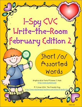 I-Spy CVC Tiny Words - Short /o/ Assorted Words (February Edition) Set 2