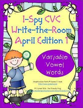 I-Spy CVC Tiny Words - Variable Vowel Words (April Edition) Set 1