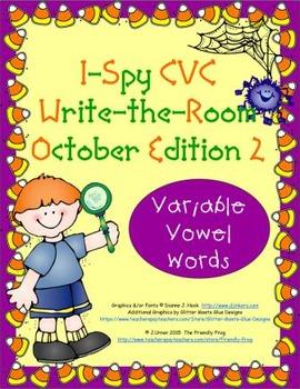 I-Spy CVC Tiny Words - Variable Vowel Words (Oct. Edition) Set 2