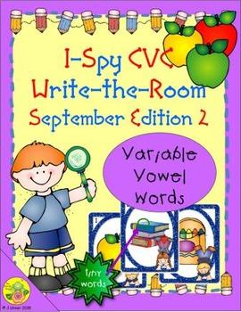 I-Spy CVC Tiny Words - Variable Vowel Words (Sept. Edition) Set 2