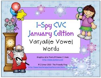 I-Spy CVC Learning Centers - Variable Vowel Words (January Edition)