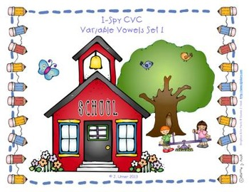 I-Spy CVC Learning Centers - Variable Vowel Words (September Edition)