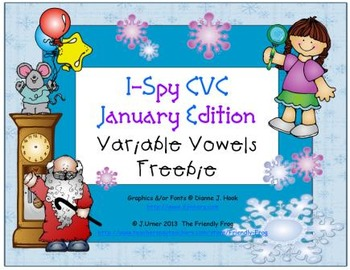 I-Spy CVC Learning Centers - Variable Vowels (January Edition) FREEBIE