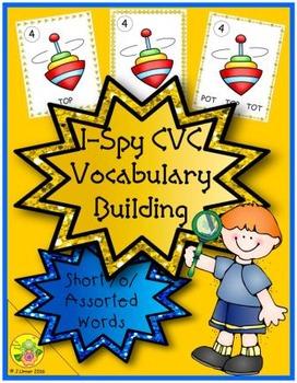 I-Spy CVC Vocabulary Building - Short /o/ Assorted Words