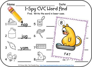 I-Spy CVC Vocabulary Building - Variable Vowel Words