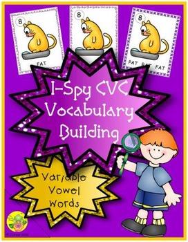 I-Spy CVC Vocabulary Building - Variable Vowel Words