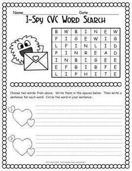 I-Spy CVC Word Search -- Short /i/ Assorted Words (February Edition)