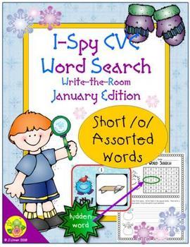 I-Spy CVC Word Search -- Short /o/ Assorted Words (January Edition)