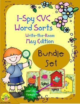 I-Spy CVC Word Sorts Bundle (May Edition)