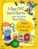I-Spy CVC Word Sorts -- Short /i/ & /o/ Assorted Words (May Edition)