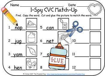 I-Spy CVC Word Work Bundle (February Edition) Variable Vowels