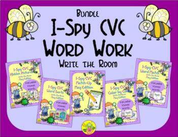 I-Spy CVC Word Work Bundle (May Edition) Variable Vowels