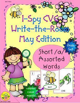 I-Spy CVC Word Work - Short /a/ Assorted Words (May Edition) Basic