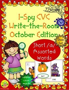 I-Spy CVC Word Work - Short /a/ Assorted Words (October Edition) Basic