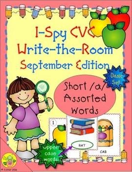 I-Spy CVC Word Work - Short /a/ Assorted Words (September Edition) Basic