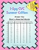 I-Spy CVC Word Work - Short /a/ Assorted Words (Summer Edition) Basic