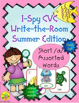 I-Spy CVC Word Work - Short /a/ Assorted Words (Summer Edi