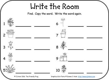 I-Spy CVC Word Work - Short /e/ Assorted Words (April Edition) Basic