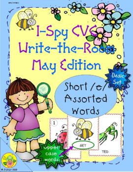I-Spy CVC Word Work - Short /e/ Assorted Words (May Edition) Basic