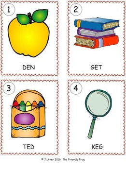 I-Spy CVC Word Work - Short /e/ Assorted Words (September Edition) Basic