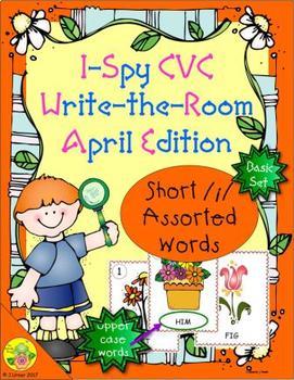 I-Spy CVC Word Work - Short /i/ Assorted Words (April Edition) Basic