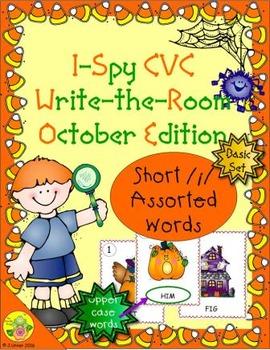 I-Spy CVC Word Work - Short /i/ Assorted Words (October Edition) Basic