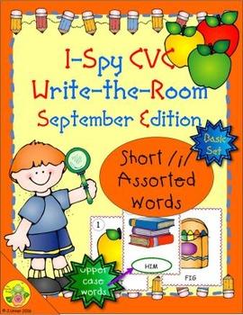 I-Spy CVC Word Work - Short /i/ Assorted Words (September Edition) Basic