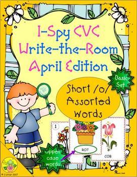 I-Spy CVC Word Work - Short /o/ Assorted Words (April Edition) Basic