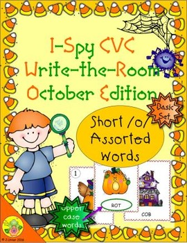 I-Spy CVC Word Work - Short /o/ Assorted Words (October Edition) Basic