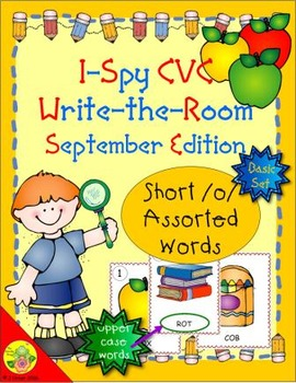 I-Spy CVC Word Work - Short /o/ Assorted Words (September Edition) Basic