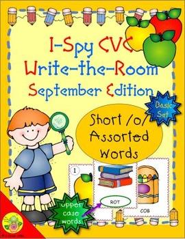 I-Spy CVC Word Work - Short /o/ Assorted Words (Sept. Edit