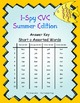I-Spy CVC Word Work - Short /o/ Assorted Words (Summer Edition) Basic