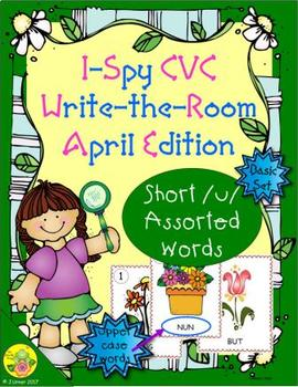 I-Spy CVC Word Work - Short /u/ Assorted Words (April Edition) Basic