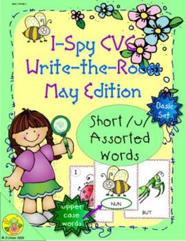 I-Spy CVC Word Work - Short /u/ Assorted Words (May Edition) Basic