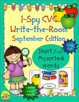 I-Spy CVC Word Work - Short /u/ Assorted Words (September Edition) Basic