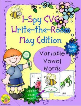 I-Spy CVC Word Work - Variable Vowel Words (May Edition) Basic