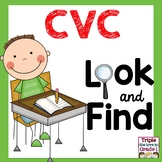 Look and Find CVC Words - Back to School Theme