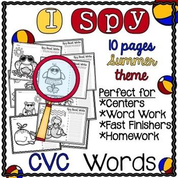 I Spy CVC Words! {Spy, Read, Write} {Summer Edition}