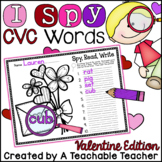 I Spy CVC Words! {Spy, Read, Write} {Valentine Edition}