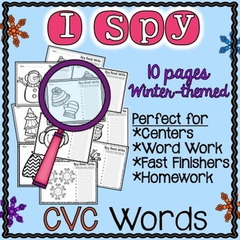Winter Activities for Kindergarten | Winter CVC Worksheets