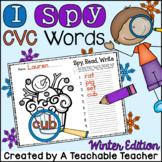 Winter Activities for Kindergarten | Winter CVC Worksheets