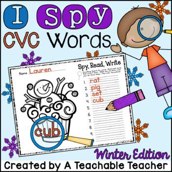 I Spy CVC Words! {Spy, Read, Write} {Winter Edition}