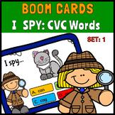 I Spy CVC Words Set 1 BOOM Cards
