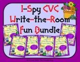 I-Spy CVC Write-the-Room Fun Bundle (April Edition) Variab